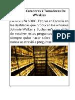 Para Los Catadores Y Tomadores de Whiskies