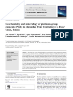Geochemestry and Mineralogy of PGE in Chromites From Central No Ye I, Polar Urals, Rusia