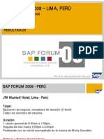 Resumen SAP Forum - 2008