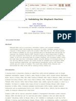 Take Me Back_ Validating the Wayback Machine