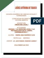 Medicina Legal (Unidad i)