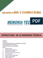 memoria tecnica