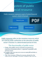 The System of Public Financial Resource
