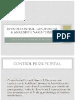 Tipos de Control Presupuestal & Analisis de Variaciones