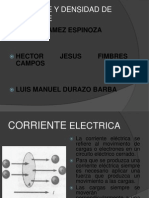CORRIENTE Y DENSIDAD DE CORRIENTE