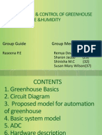 Monitor and Control of Greenhouse Environment