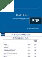 Diasorin presentazione bilancio