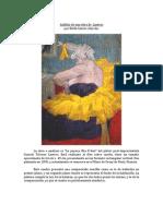 Analisis de una obra de Lautrec