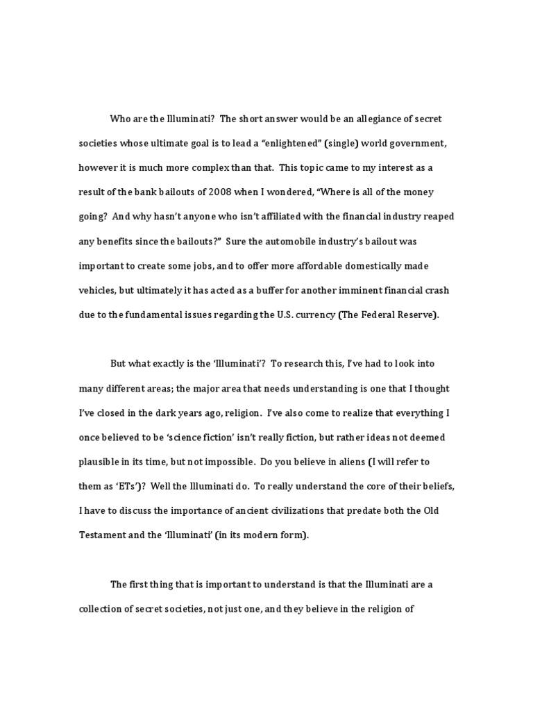 Illuminati Research Paper Mythology Religious Belief And Doctrine  Illuminati Research Paper