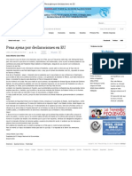30-04-12 Pena Ajena Por Declaraciones en EU