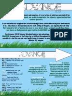 Advance Summer 2012 Schedule