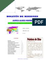 BOLETIN DE MISIONES 01-05-2012