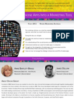Turning SmartPhone Apps into a Marketing Tool