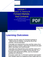 Lecture-1, Section 16, Reading 58, Forward Markets and Contracts