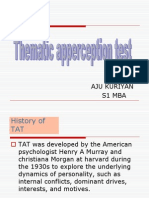 Ob Ppt - Thematic Apperception Test [Special Topic] by Aju Kuriyan