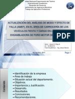 Actualizacion de Los AMEF de Procesos de Ensamblaje Del Area de Carroceria Presentacion Modificado