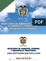 Ministerio Del Medio Ambiente 2011
