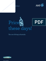 Prices These Days! The Cost of Living in Australia