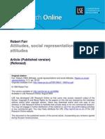 Attitudes Social Representations and Social Attitudes