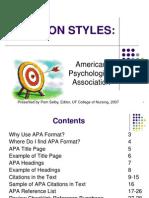 APA Citation Style 8-25-07