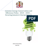 Jamaica, National Energy Conservation and Efficiency Policy 2010-2030