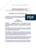 Presidential Decree No. 603, The Child and Youth Welfare Code
