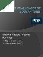 CSR Challenges of Modern Times