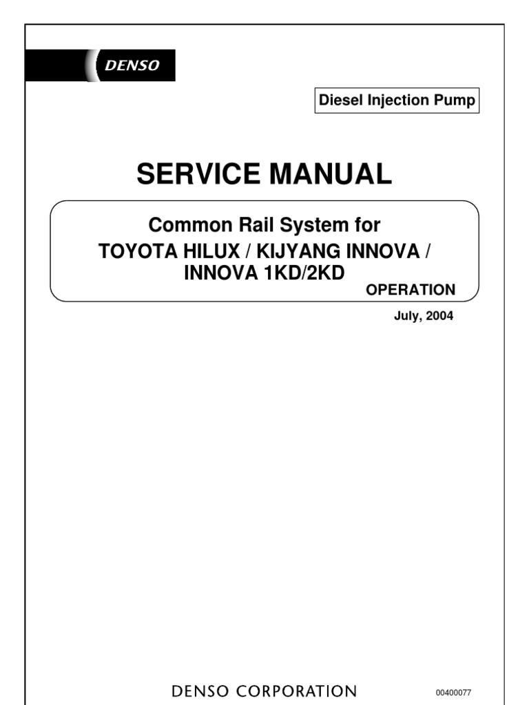 denso toyota hilux common rail fuel injection throttle rh es scribd com