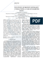 A Comparative Study of Recent Ontology Visualization Tools with a Case of Diabetes Data
