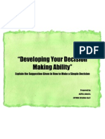 Developing Your Decision Making Ability