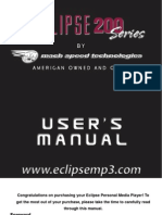 Eclipse 200 Manual
