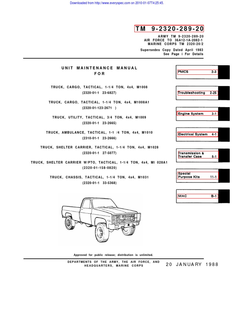 ARMY TM 9-2320-289-20 Mantainance Truck (Chevy) 1-¼ TON 4X4 Tactical M Ambulance Wiring Diagram on smart car ambulance, pueblo colorado ambulance, 1986 army ambulance, red cross ambulance, m997 ambulance, hummer ambulance, old ambulance, ford e-350 ambulance, tactical ambulance, m1035 ambulance, lifted cucv ambulance,