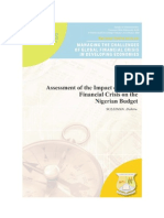 Assessment of the Impact of Global Financial Crisis on the Nigerian Budget