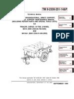 ARMY TM 9-2330-251-14-P Maintenance-Repair Trailer, Cargo .25Ton M416-M416A1 SEP90