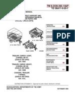 ARMY TM 9-2330-392-14P M1102 & M1102 Trailer Tech Manual Apr01