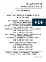 ARMY TM 9-2815-237-34 Maintenance-Support Manual Engine, Diesel 8-Cylinder 1990-1998 May99