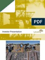 Lehating Investor Presentation March 2012