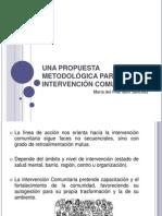 UNA PROPUESTA METODOLÓGICA PARA LA INTERVENCIÓN COMUNITARIA