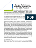 Europe - Total Agreement Between the Power Wheels - a new development