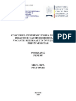 Mecanica Programa Titularizare 2010 P