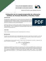 Cálculo ETr - PM -PT