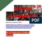 Noticias Uruguayas miércoles 2 de mayo de 2012