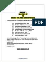Gujarat Judicial Service Examination Self Study Kit Solved Paper 2012