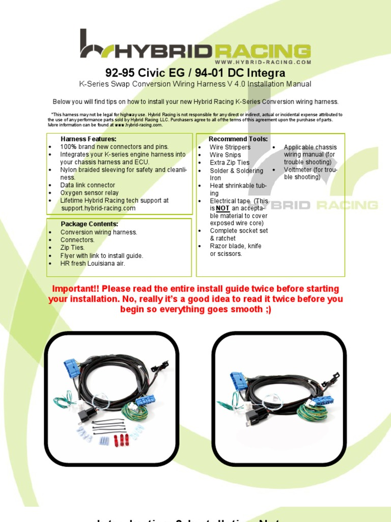 Egdc Wire Harness Instructions 40 Throttle Electrical Connector Wiring Installation Guide