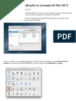 Como adicionar aplicações ao arranque do Mac OS X