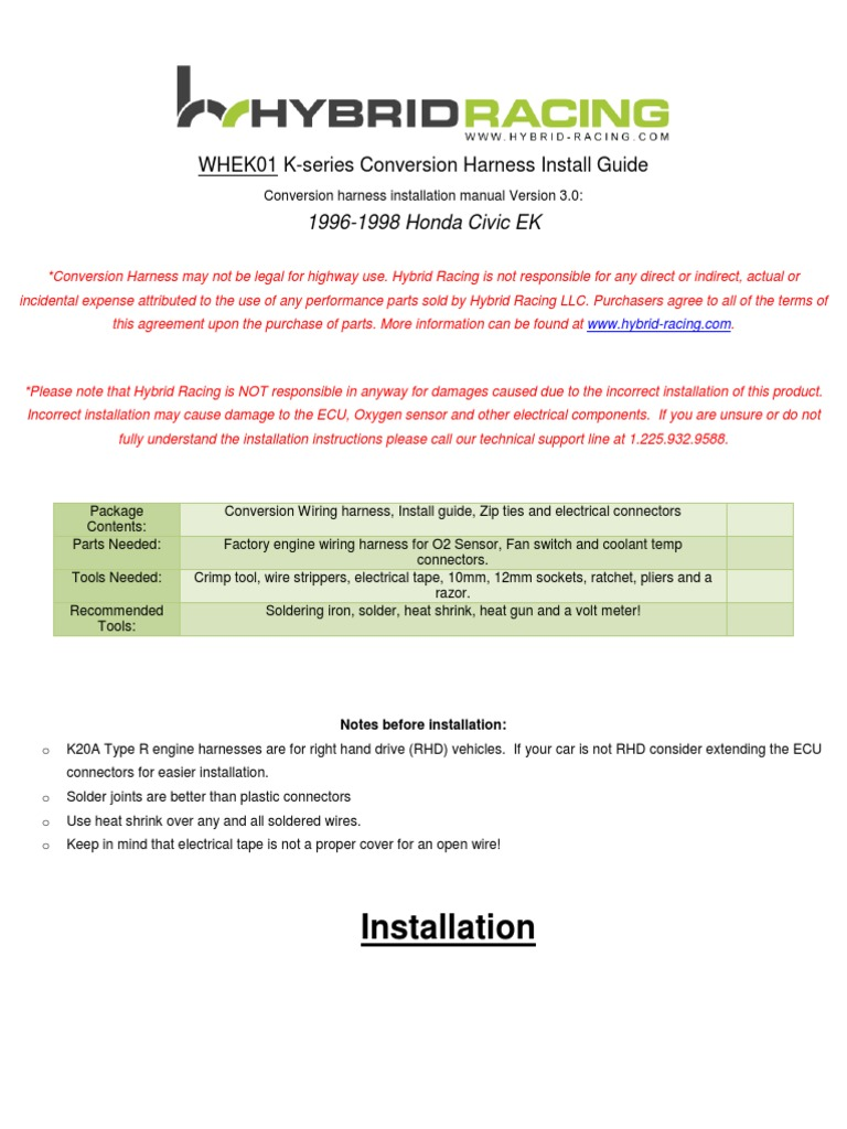 ek wire harness instructions 3 1 | electrical connector | vehicle technology