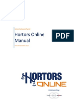 Hortors Online Manual