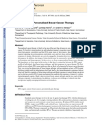 DNA Repair and Personalized Breast Cancer Therapy
