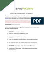 Race Harness Install Guide v1.5