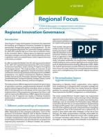 Regional Innovation Governance (Eng)/ Gobernanza de Innovación Regional (Ing)/ Eskualdeko berrikuntzaren gobernantza (Ing)